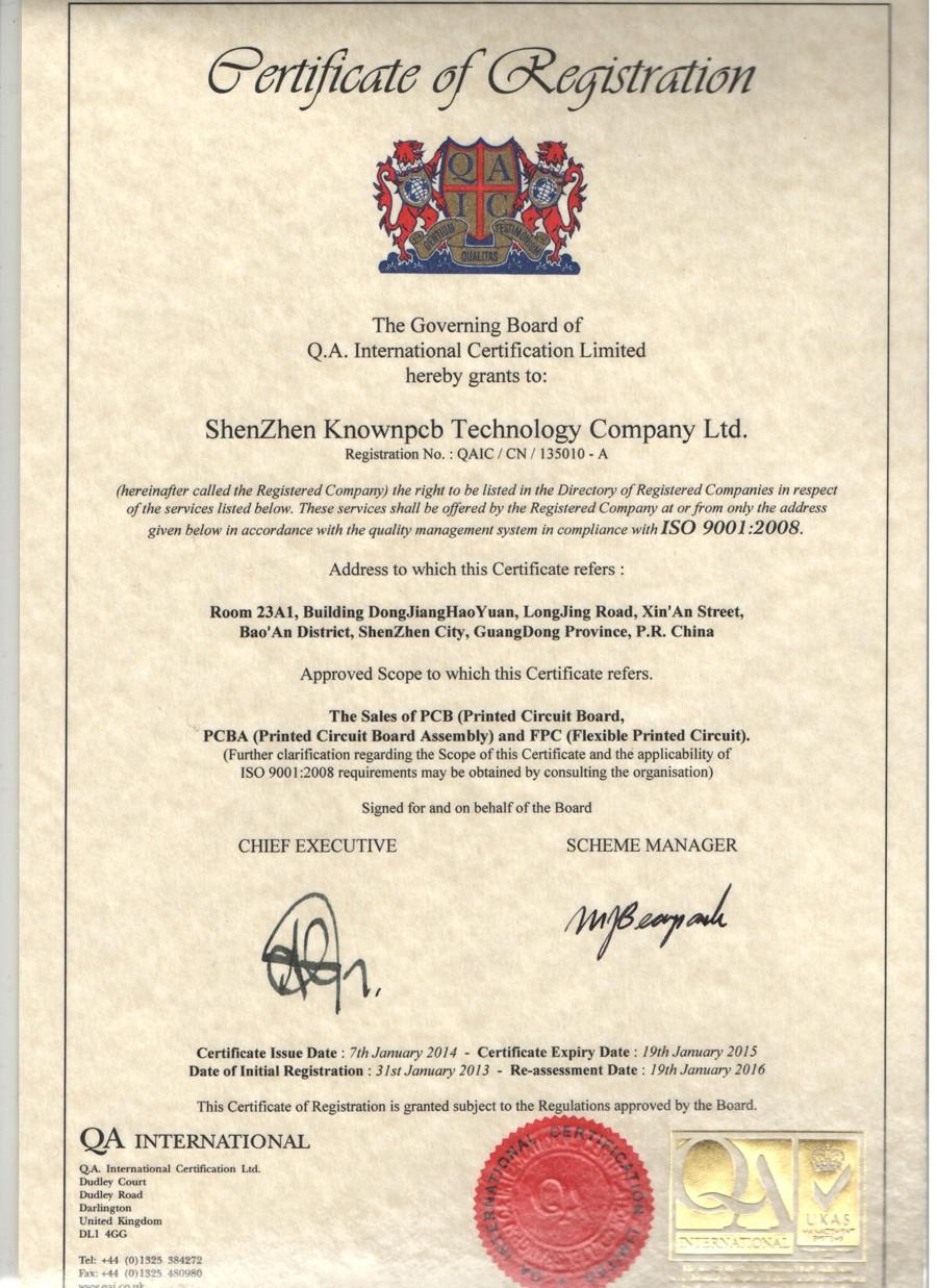 ISO 9001-en