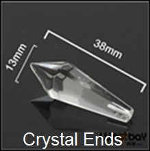 Free Shipping 200pcslot 38MM Drop Crystal Beads Optic Fiber Crystal Ending for DIY optic fiber lighting,Brand New, Easy install