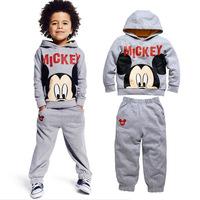 In stock ! Children's clothing set Hot sale boys' long sleeve cartoon hoodies + long pants Little Spring GLZ-T0333