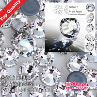 Top quality SS16 Crystal Clear Glass Material 14 Facets 7big+7small Best  Hotfix RHinestones for Professional Buyers Only