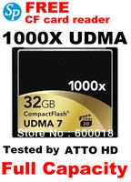 Full Capacity Compact Flash CF UDMA 7  Memory Card 1000X 32GB MLC For digital Cameras DVR Free shipping SPCF32L