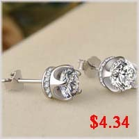 CZ gold-plated earrings-4