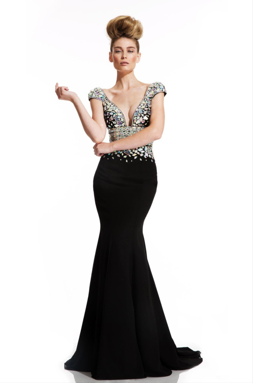 Vestido-De-Festa-2015-V-Neckline-Long-Mermaid-Backless-Crystal-Beading-Rhinestone-Women-Evening-Dresses-Long