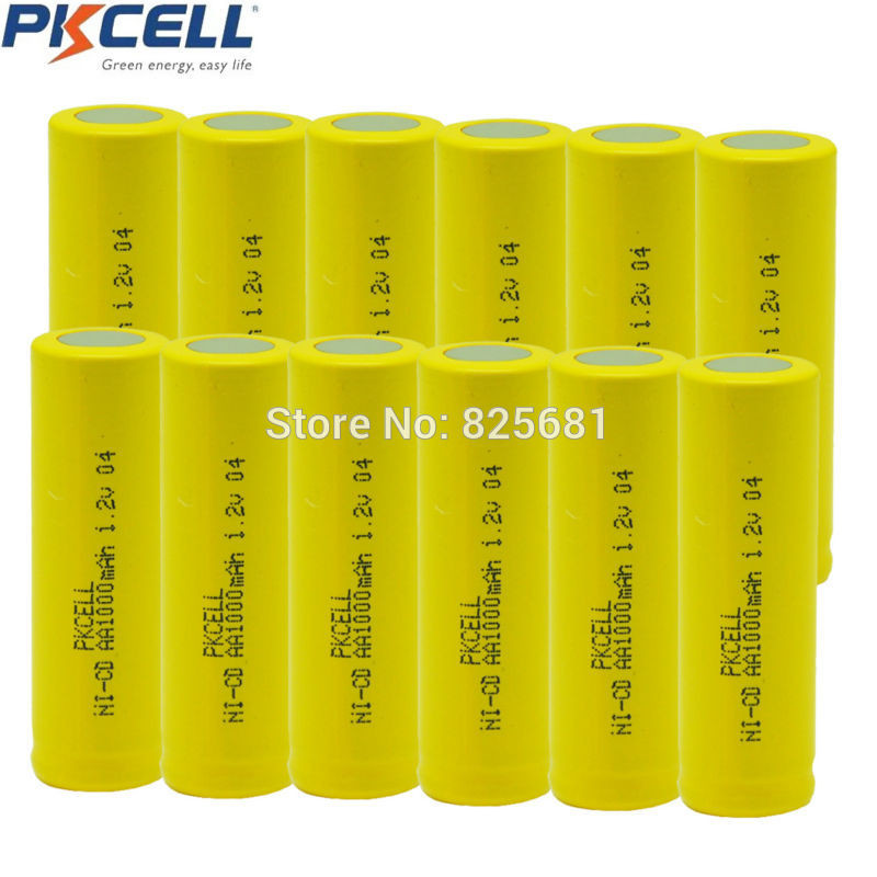 12pcs-1-2v-aa-1000mah-rechargeable-NICD-battery-in-industrial-package-in-flat-top-non-PCM