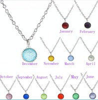 2016 Fashion Necklaces 12 Colors Crystal Birthstones 15*18mm Dangle Pendant Fit sky chains mobile phone straps as Birthday Gift