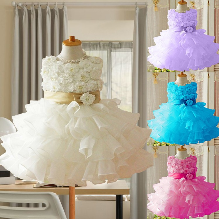 2015-Hot-Girls-dresses-1PCS-Retail-sleeveless-Waist-Chiffon-Toddler-3D-Flower-Tutu-Layered-Princess-Party