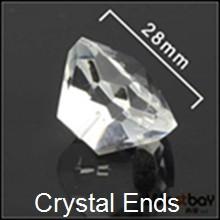 100pcs lot 30mm Diamond shape crystal for PMMA fiber lights ends