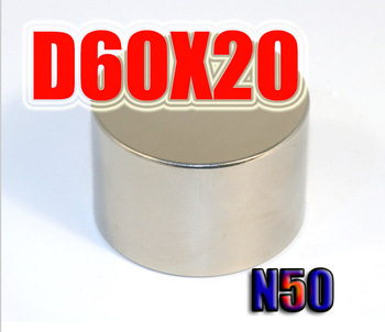 60*20  1pc 60mm x 20mm disc powerful magnet craft neodymium  rare earth permanent ndfeb  strong magnets n50  holds 86kg