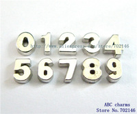 50pcs 0-9 Floating numbers Fit Glass Floating Locket FC521