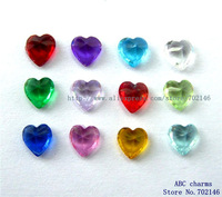 60pcs 5mm Mix Color Heart Birthstone Floating Locket Charms  for Living Memory Floating locket
