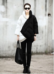 White-2014-New-women-coat-Fashion-Week-Catwalk-Ultra-Long-Section-Thick-Warm-Down-Jacket-Black-And