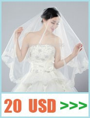 2014-Hot-Spring-New-Styles-Two-Layers-White-Wedding-Dresses-Bridal-Veil-with-No-Comb-Head