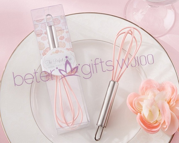 """The Perfect Mix"" Pink Kitchen Whisk Party Favors"