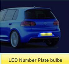 LED Number Plate bulbs