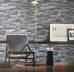 2014-Simulation-3D-gray-brown-stone-brick-pattern-background-den-living-room-free-shipping