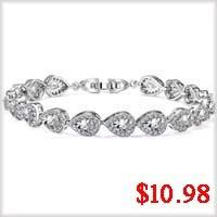CZ gold plated bracelet-1