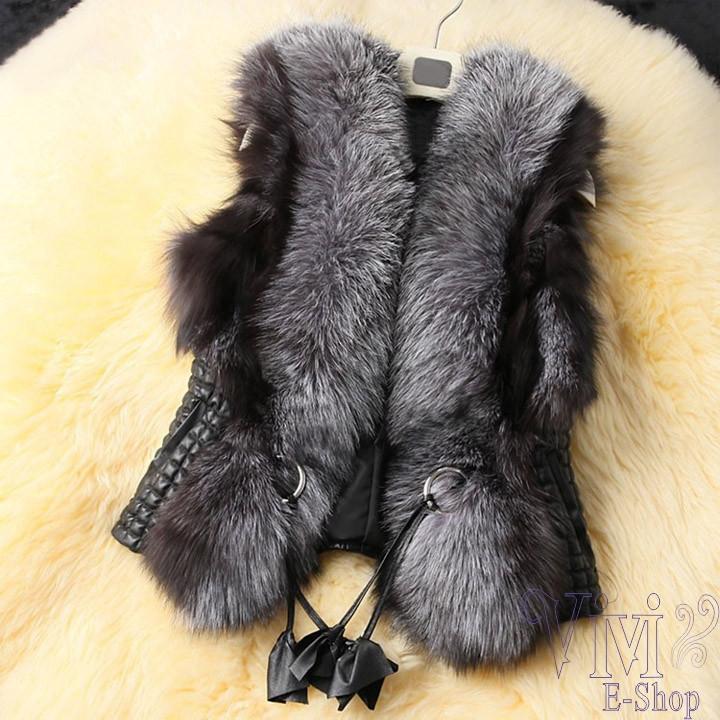 Plus-Size-M-3XL-2014-New-Fashion-Women-Genuine-Fox-Fur-Vest-Womens-Short-Fur-Jacket