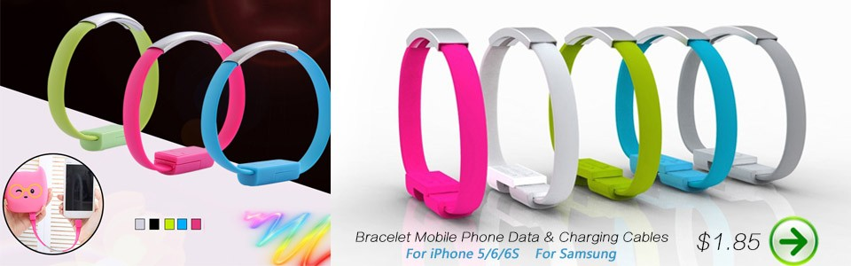 Bracelet charging cable