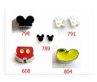 Free Shipping wholesale  New Style 10pcs cartoon mouse series Floating locket Charms  Fit Glass Floating Locket