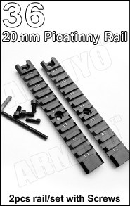 36 rail mount 2pcs