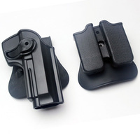 Polymer Retention Roto Holster and double Mag holster Fits Beretta 92/96/M9 All in one holster