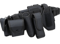 Multifunctional outdoor duty belt Police Security Belts Holster Magazine Pouch Set Black Airsoft Tactical Belt