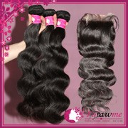 brazilian body wave bundle with closure