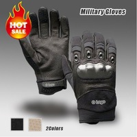 U.S. Military Tactical Gloves,OK Brand Outdoor Sports Army Full(Half) Finger Cycling Motorcycle Carbon Leather Gloves