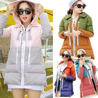 2014 New woman down coat White duck down jacket Ladies Slim warm hoodie Winter clothes thick jackets outwear Parka Overcoat Tops