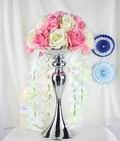 Pink-Free-shipping-Road-led-Flowers-ball-Wedding-props-silk-flowers-artificial-flower-wedding-decoration-flowers
