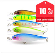 Free Shipping Super Quality Mix 5 Colors Hard Bait Minnow Fishing lures Bass Fresh Salt water LR-SET-5