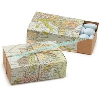 Around the World Map Favor Box TH031-A0