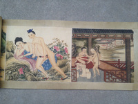 Chinese ancient Erotic Arts erotic nude painting scroll collectibles
