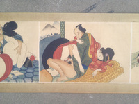 Japanese ancient Erotic Arts erotic nude painting scroll collectibles