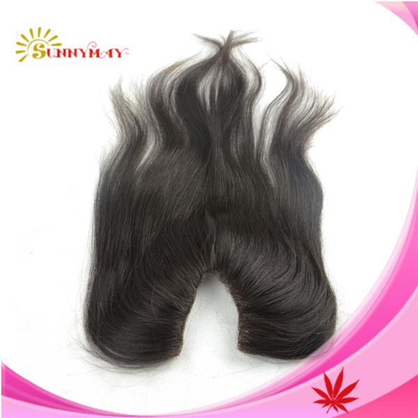 Free-shipping-v-part-closure-100-Brazilian-virgin-human-hair-6a-grade-bleached-knots-closure-v