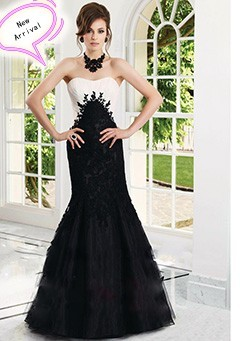Free-Shipping-Elegant-Evening-Dresses-With-Black-Organza-And-White-Satin-With-Appliques-Zuhair-Murad-Evening_conew3