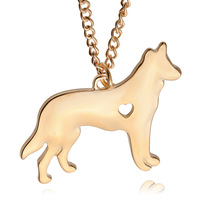 2016 Shepherd dog Pendant Necklace Chain Fashion Jewelry 1pcs 3.3*3.9cm Created small animal Pendant Necklace ZJ-0903634