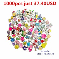 wholesale price for living memory floating locket charms mixed styles (send by random)1000pcs as friend gift  clearance sale
