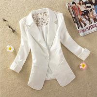 Women Blazer Lace Back 2015 New Autumn Elegant Suit Deep V-neck Blaser Jacket Ladies Pads Shoulder Blazers Coat S-XXL 4 Colors
