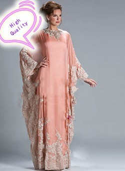 2015-Caftan-Chiffon-Vestidos-De-Fiesta-Appliques-Aribic-High-Neck-Evening-Dresses-Floor-Length-Coral-Formal_conew1