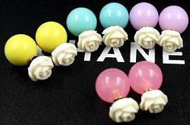 European-and-American-round-ball-pearl-camellia-earrings-for-women-2014-new-gold-double-faced-fashion