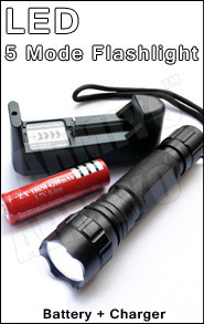 5 mode flashlight