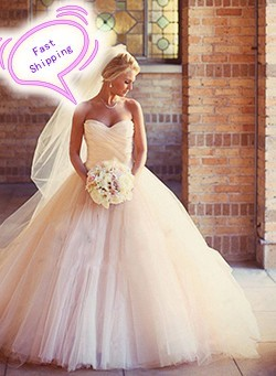 2015-Fashion-Ball-Gown-Wedding-Dresses-With-Ruched-Tulle-Sweetheart-Sweep-Train-Bridal-Gowns-Plus-SIze_conew1