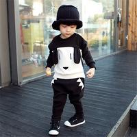 In stock ! Retail Children's clothing set Autumn & Winter boys' long sleeve cartoon t-shirt + long pants Little Spring GLZ-T0331