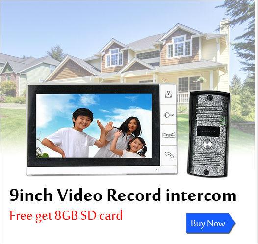 8Gb 9inch recording video doorphone