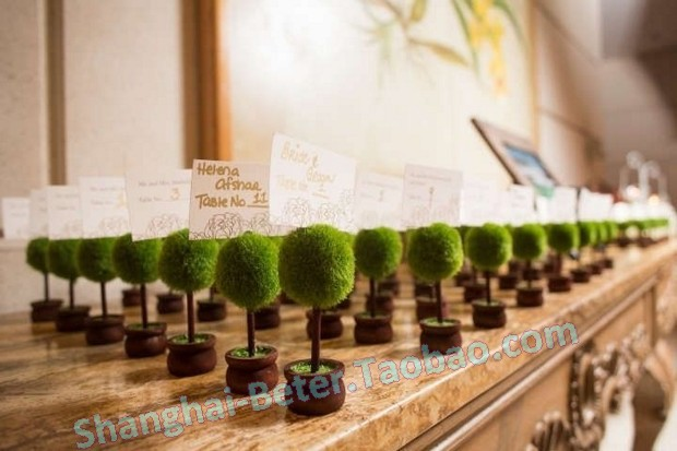 Topiary Place Card Holders Wedding Decor