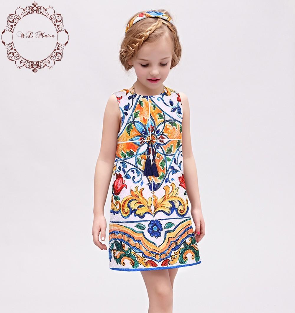 Brand-Girl-Dress-2016-Autumn-Toddler-Girl-Dresses-Majolica-Print-Princess-Dress-Costume-for-Kids-Clothes