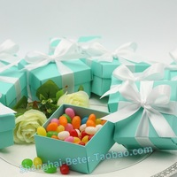 Tiffany Blue Giftbox Design Favor Box