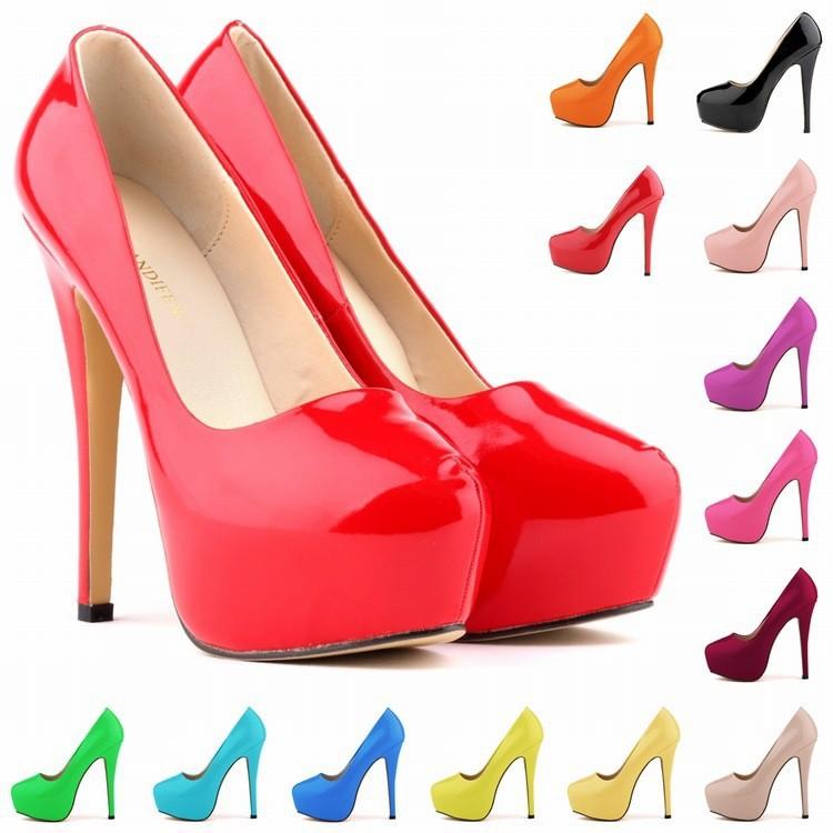 New-2014-Candy-Color-Patent-Leather-Women-Pumps-13-Colors-European-Size-35-42-Fashion-14cm