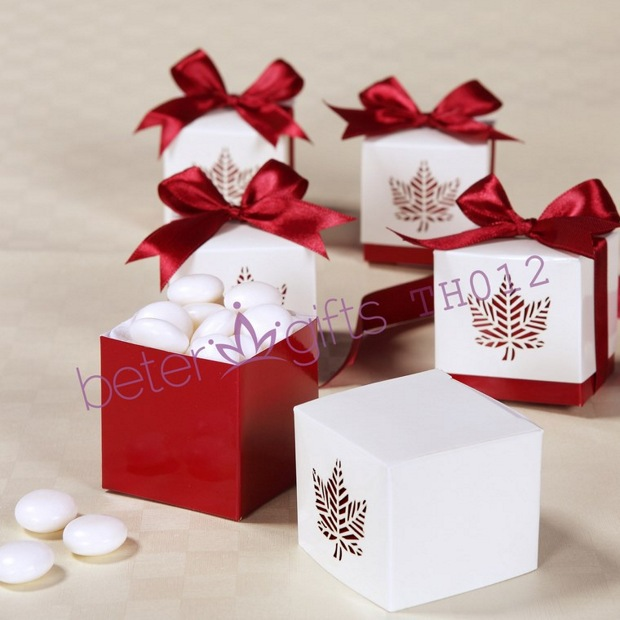 Leaf Candy Box Baby Shower Favors